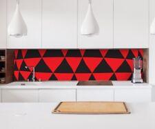 Aufkleber Küchenrückwand 3D Effekt rot Geo Dreieck abstrakt Kunst Folie 22A200