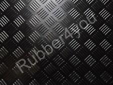 CHECKER-PLATE Studded Garage Shed Workshop Rubber Flooring Matting 1.5m x 3mm