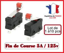Lot de 1 à 10  Fin de course 5A 125v à galet  / Arduino projet / micro switch