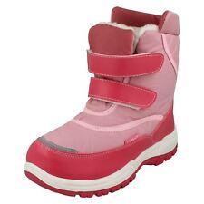 niña REFLEX sintético color rosa Botas De Nieve forro de piel Júnior h4052