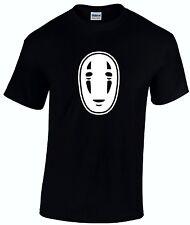 Spirited Away Inspired Kaonashi Mask Ghibli Anime Manga Unisex Adult T shirt
