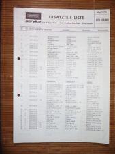 Ersatzteilliste Grundig RTV 820   HiFi-System,ORIGINAL