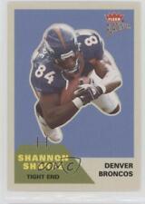 2002 Fleer Platinum #153 Shannon Sharpe Denver Broncos Football Card