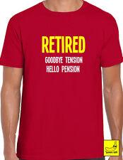 ARRIVEDERCI TENSIONE Hello Pensione Padre Nonno Papà Divertente T-Shirt Regalo Tee