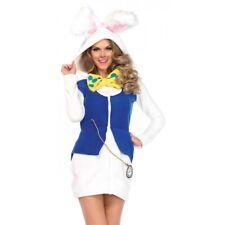 White Rabbit Costume Adult Alice in Wonderland Halloween Fancy Dress