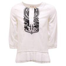 0891T camicia bimba DONDUP ramiè bianco manica lunga shirt kid