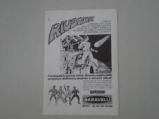 advertising Pubblicità 1974 SUPEREROI BARAVELLI UOMO RAGNO/SHAZAM/AMICO JACKSON