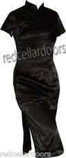 New Sexy Black Dress Stretch Chinese Cheongsam Knee Length Girls Must Have