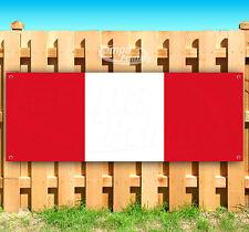 "Peru Flag Advertising Vinyl Banner Flag Sign Usa 15"" 18"" 20"" 30"" 48"" 52"""