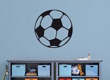 Wandaufkleber: 1x Fußball - 10/15/20cm Sport Ball Junge Kinderzimmer WandTattoo