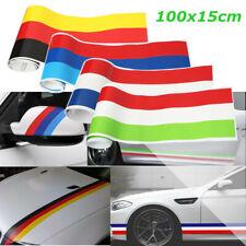 100*15cm 3 Color Reflective Vinyl Car Sticker Flag Stripes Decal For BMW Audi