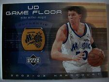 02-03 UD Hardcourt Game Floor # MM-F MIKE MILLER , MAGIC !!! BOX # 33