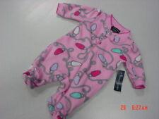 NWT Infant Girls Preemie Sleep and Play Faded Glory Pink Christmas Lights