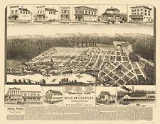 Panoramic Print - Snohomish Washington - Elliot 1890 - 23 x 29.55