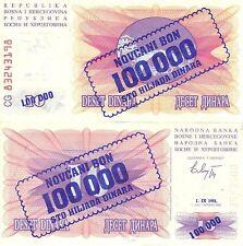 Listado de múltiples variaciones 7 denominaciones billetes de Bosnia-Herzegovina UNC