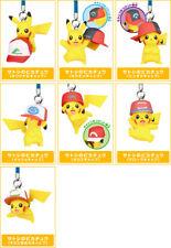 Pokemon PVC Keychain Figure Charm Pikachu with Ash's Hat All Generations @85694