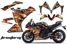 AMR RACING GRAPHICS DECAL WRAP KIT- YAMAHA R1 STREET BIKE, 2010-2012 - FIRESTORM