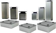 Aluminium Möbelfüße Sockelfüße Schrankfüße Möbelfuß Möbelbeine Sockelfuss