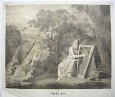 Ossian Orig. Lithografie Simon Klotz (1746-1824) 1807 Inkunabel Lithografie
