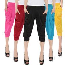 Women's Maxi Thin Section Summer Loose Short Legging 7/10 Harem Capri Pants Yoga