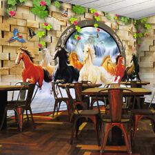 3D Garten Pferde Herde 893 Tapete Wandgemälde Tapeten Bild Familie DE Kyra