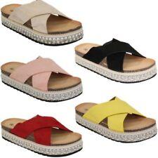 mujer Look Ante Plataforma Cuerda Sandalias Alpargatas TACHUELAS Zapatos