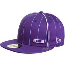 Oakley New Era 59Fifty Square O Pinstripe Cap Hat Grey Purple 7 1/8