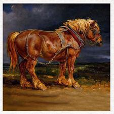 Shire Horse-Tapicería de tela Cojín de imagen Vintage, panel Acolcha Artesanal