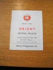 24/09/1968 Leyton Orient V Copa Cristal Palace [Liga de fútbol] (leve arrugada)