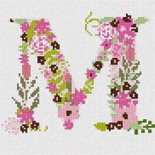 The Letter M Flowering Needlepoint Kit or Canvas (Alphabet/Letters)