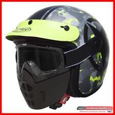 Casco Moto Premier Vintage Mask Sar Camo Giallo BM Raw Mascherinai Naked Custom