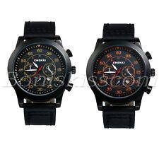 Men's Business Casual Leather Strap Quartz Analog Decoration Calendar Wristwatch