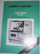 Vtg Osterwalder Ltd Catalog~Rectimat Grinding Machine