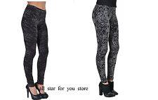 Hue Womens Legging python OR Crocodile Print Grey Black Cotton Leggings S, L, XL