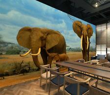 3D Afrika Elefanten 5 Fototapeten Wandbild Fototapete Bild Tapete Familie Kinder