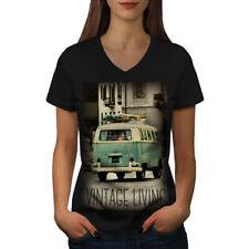 Truck Life Old Vintage Women V-Neck T-shirt NEW | Wellcoda