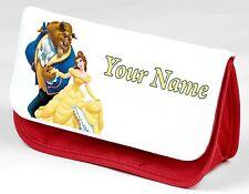 Personalizado Bella Y La Bestia Estuche con tu nombre, Disney Belle.