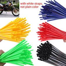 72x Universal Wheel Spoke Wraps Motorcycle Cover Pipe Skins Fits Kawasaki Suzuki