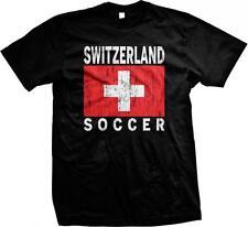 Schweiz Soccer Fußball Schweizer Flagge Swiss Stolz Stolz Herren T-Shirt