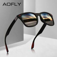AOFLY NEW DESIGN Ultralight TR90 Polarized Sunglasses Men Women Driving Square