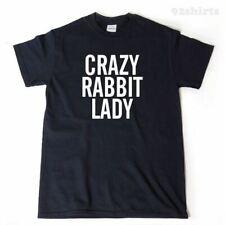 Crazy Rabbit Lady T-shirt Funny Rabbit Shirt Rabbits Tee Shirt
