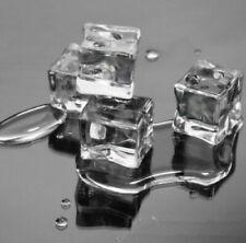 50X Künstliche 2-3CM Acryl Eiswürfel Eisblock Tischdeko Cocktails Party Ice Tube