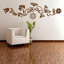 WANDTATTOO XXL Ranke Hibiscus Blumen Bordüre Wandaufkleber Sticker #CFL-007