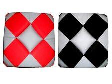 LOT de 6 Galettes Dessus de chaise Damier Gris/Noir ou Gris/Rouge