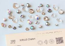 Genuine SWAROVSKI 1028 & 1088 castoni ROUND pietre * Crystal colore con effetti