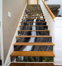 3D Waterfall Line 1 Stair Risers Decoration Photo Mural Vinyl Decal Wallpaper AU
