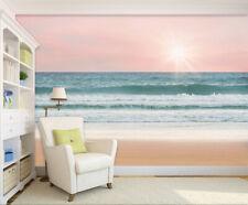 3D Pink Sky Ocean 743 Wall Paper Murals Wall Print Wall Wallpaper Mural AU Kyra