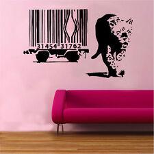 Banksy Leopard BARCODE Decalcomania In Vinile Adesivo Parete Arte ha STREET