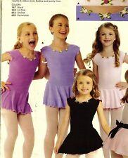 NWOT Cap Sleeve dance dress rosette trim girls sizes matte spandex frontlined