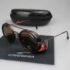 Men Women Retro Sunglasses Round Windproof Matte Frame Metal Carrera Glasses 138